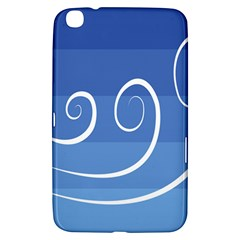 Ventigender Flags Wave Waves Chevron Leaf Blue White Samsung Galaxy Tab 3 (8 ) T3100 Hardshell Case  by Mariart