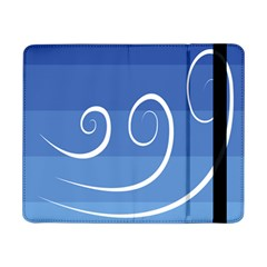 Ventigender Flags Wave Waves Chevron Leaf Blue White Samsung Galaxy Tab Pro 8 4  Flip Case by Mariart