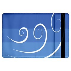 Ventigender Flags Wave Waves Chevron Leaf Blue White Ipad Air Flip by Mariart