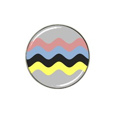 Wave Waves Chevron Sea Beach Rainbow Hat Clip Ball Marker (4 Pack) by Mariart