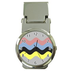 Wave Waves Chevron Sea Beach Rainbow Money Clip Watches by Mariart