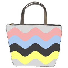Wave Waves Chevron Sea Beach Rainbow Bucket Bags by Mariart