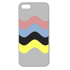 Wave Waves Chevron Sea Beach Rainbow Apple Seamless Iphone 5 Case (clear) by Mariart