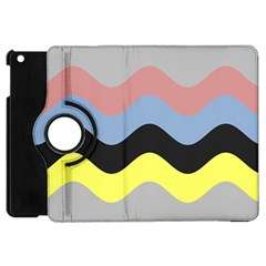 Wave Waves Chevron Sea Beach Rainbow Apple Ipad Mini Flip 360 Case by Mariart