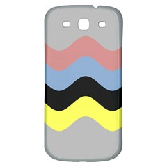 Wave Waves Chevron Sea Beach Rainbow Samsung Galaxy S3 S Iii Classic Hardshell Back Case by Mariart