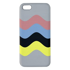 Wave Waves Chevron Sea Beach Rainbow Apple Iphone 5 Premium Hardshell Case by Mariart