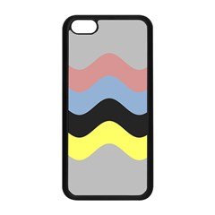 Wave Waves Chevron Sea Beach Rainbow Apple Iphone 5c Seamless Case (black) by Mariart