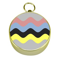 Wave Waves Chevron Sea Beach Rainbow Gold Compasses by Mariart