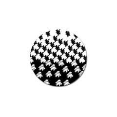 Transforming Escher Tessellations Full Page Dragon Black Animals Golf Ball Marker (4 Pack)