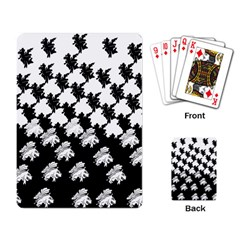 Transforming Escher Tessellations Full Page Dragon Black Animals Playing Card by Mariart