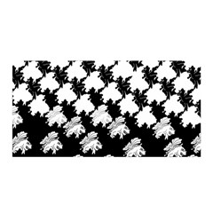 Transforming Escher Tessellations Full Page Dragon Black Animals Satin Wrap by Mariart