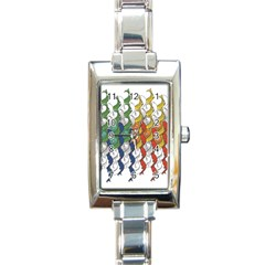 Rainbow Fish Rectangle Italian Charm Watch by Mariart