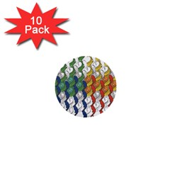 Rainbow Fish 1  Mini Buttons (10 Pack)