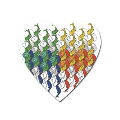 Rainbow Fish Heart Magnet by Mariart