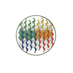 Rainbow Fish Hat Clip Ball Marker by Mariart