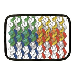 Rainbow Fish Netbook Case (medium)  by Mariart