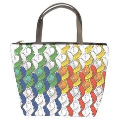 Rainbow Fish Bucket Bags by Mariart