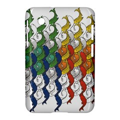 Rainbow Fish Samsung Galaxy Tab 2 (7 ) P3100 Hardshell Case  by Mariart