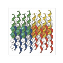 Rainbow Fish Small Satin Scarf (square) by Mariart