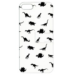 Dinosaurs Pattern Apple Iphone 5 Hardshell Case With Stand by Valentinaart