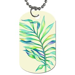 Leaves Palm Dog Tag (one Sided)