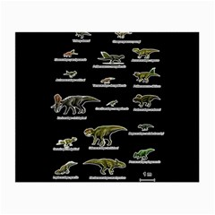 Dinosaurs Names Small Glasses Cloth (2-side) by Valentinaart