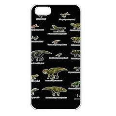 Dinosaurs Names Apple Iphone 5 Seamless Case (white) by Valentinaart
