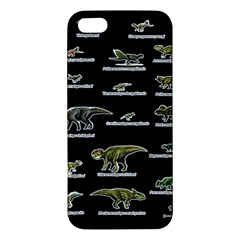 Dinosaurs Names Apple Iphone 5 Premium Hardshell Case