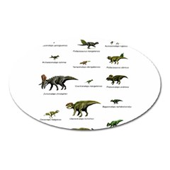 Dinosaurs Names Oval Magnet by Valentinaart