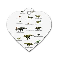 Dinosaurs Names Dog Tag Heart (one Side)