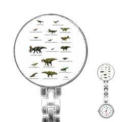 Dinosaurs Names Stainless Steel Nurses Watch
