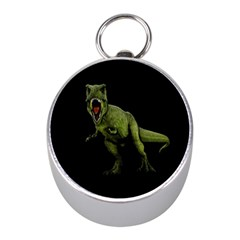 Dinosaurs T Rex Mini Silver Compasses by Valentinaart