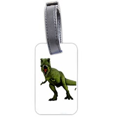 Dinosaurs T Rex Luggage Tags (one Side)  by Valentinaart