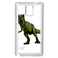 Dinosaurs T Rex Samsung Galaxy Note 4 Case (white) by Valentinaart