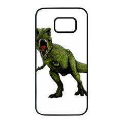 Dinosaurs T Rex Samsung Galaxy S7 Edge Black Seamless Case by Valentinaart