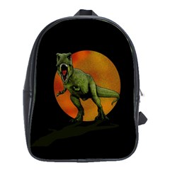 Dinosaurs T Rex School Bags(large)  by Valentinaart