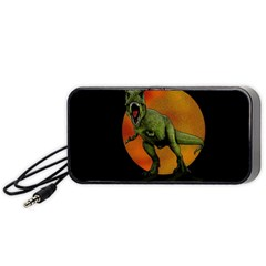 Dinosaurs T Rex Portable Speaker (black) by Valentinaart