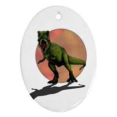 Dinosaurs T Rex Ornament (oval) by Valentinaart