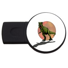 Dinosaurs T Rex Usb Flash Drive Round (2 Gb) by Valentinaart