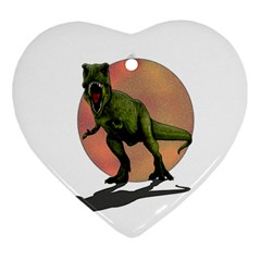 Dinosaurs T Rex Heart Ornament (two Sides) by Valentinaart