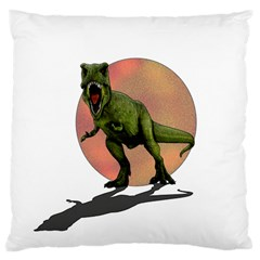 Dinosaurs T Rex Large Cushion Case (one Side) by Valentinaart