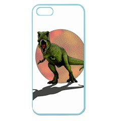 Dinosaurs T Rex Apple Seamless Iphone 5 Case (color) by Valentinaart