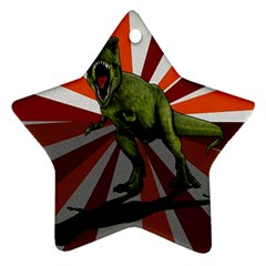 Dinosaurs T Rex Ornament (star) by Valentinaart