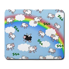 Sweet Dreams  Large Mousepads by Valentinaart