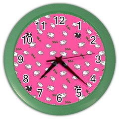 Sweet Dreams  Color Wall Clocks by Valentinaart