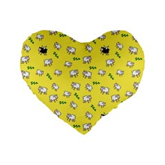Sweet Dreams  Standard 16  Premium Flano Heart Shape Cushions by Valentinaart