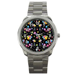Balloons   Sport Metal Watch by Valentinaart