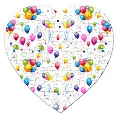 Balloons   Jigsaw Puzzle (heart) by Valentinaart