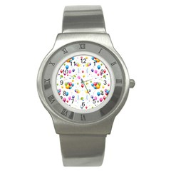 Balloons   Stainless Steel Watch by Valentinaart