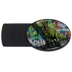 Urban T Rex Usb Flash Drive Oval (4 Gb) by Valentinaart